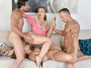 Mature gang banged