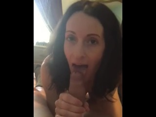 Wife swallowing gangbang slutload
