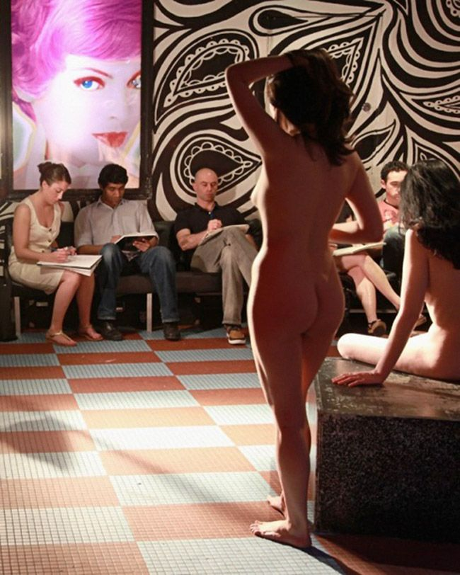 Posing nude for art